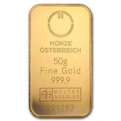50 Grams Austrian Mint Gold Bar