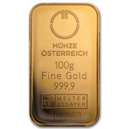 100 Grams Austrian Mint Gold Bar