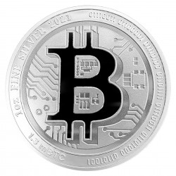 1 Oz 2021 Bitcoin Silver Coin