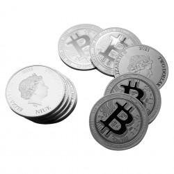 1 Oz 2021 Bitcoin Silver Coin