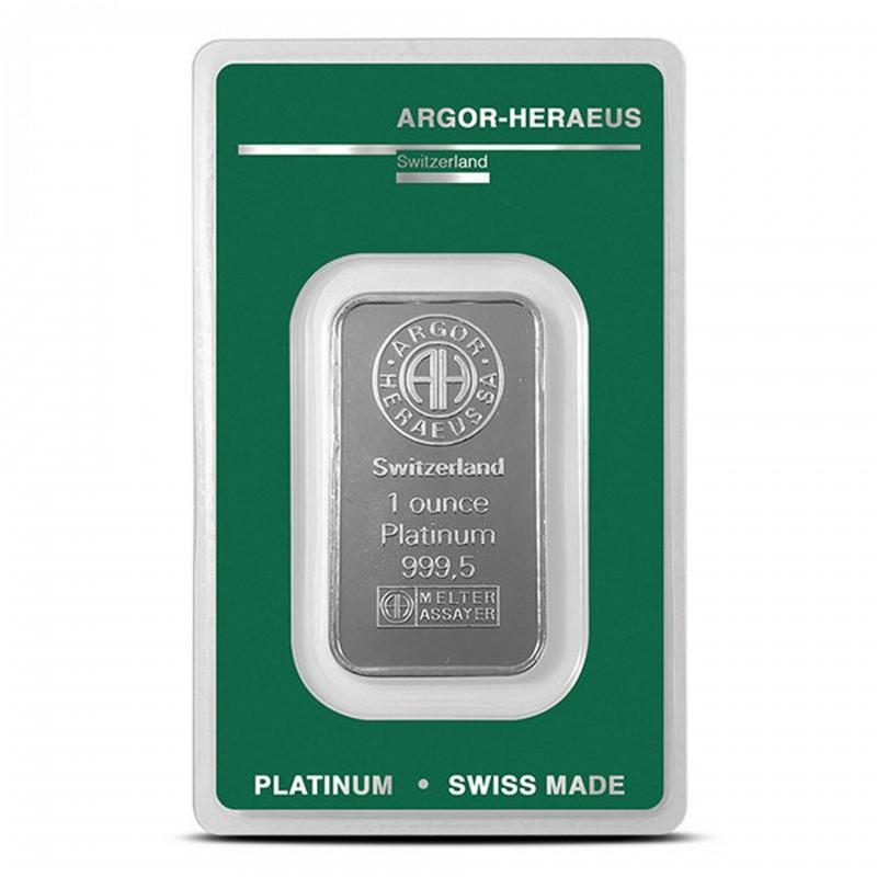 1 oz Argor-Heraeus Platinum Bar