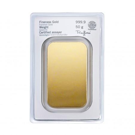 50 Grams Heraeus Gold Bar