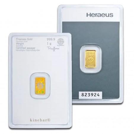 1 Gram Heraeus Gold Bar