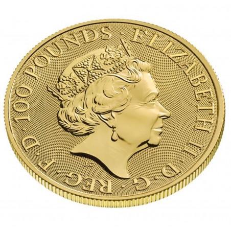 1 Oz White Greyhound 2021 Gold Coin