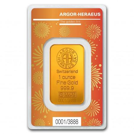 1 Oz Argor-Heraeus Lunar Ox Gold Bar