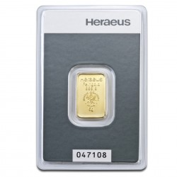 5 Gram Heraeus Gold Bar