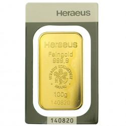 100 Gram Heraeus Gold Bar
