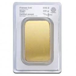 100 Grams Heraeus Gold Bar