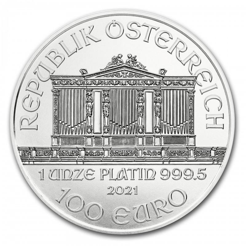1 Oz Vienna 2021 Philharmonic Platinum Coin