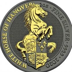 2 Oz White Horse of Hanover 2020 – Art Color Silver Coin