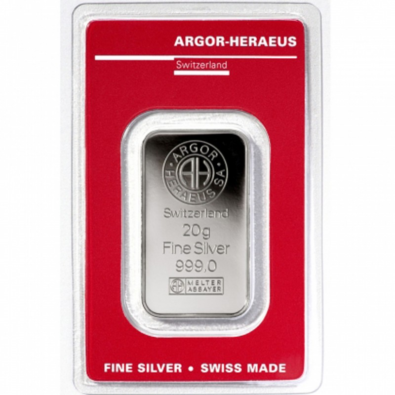 20 Grams Argor-Heraeus Silver Bar