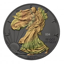 1 Oz Ruthenium and Gold Plated Silver Eagle Coin