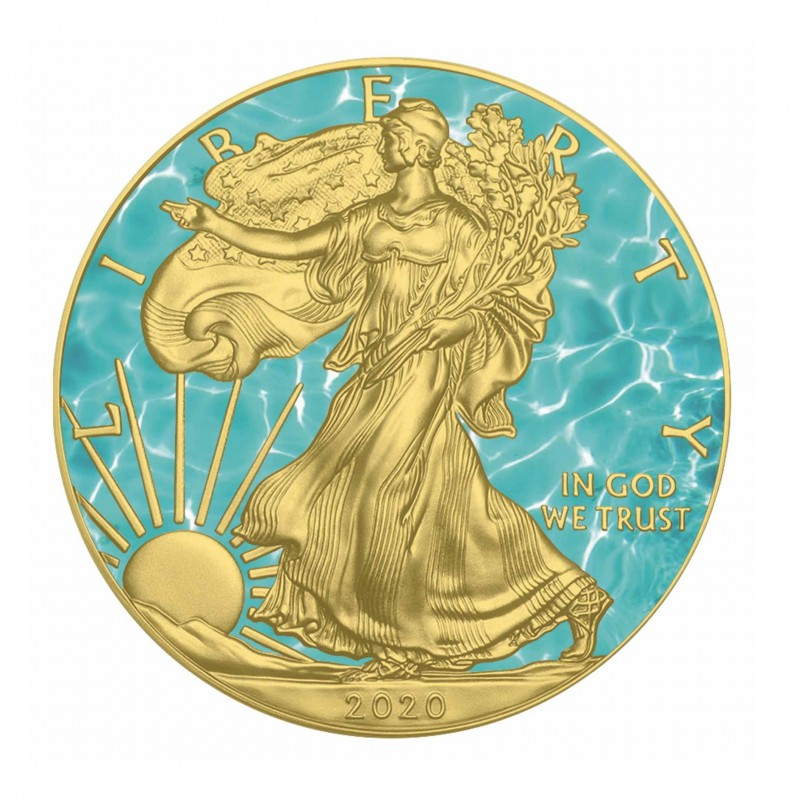 1 Oz Water American Eagle 2020 Silver Coin