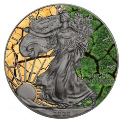 1 Oz Earth American Eagle 2020 Silver Coin