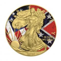 1 Oz Confederate Flag American Eagle 2020 Silver Coin