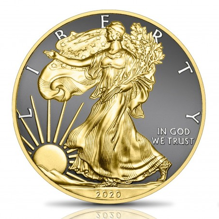1 Oz American Eagle Art Of Colors Silver Coin