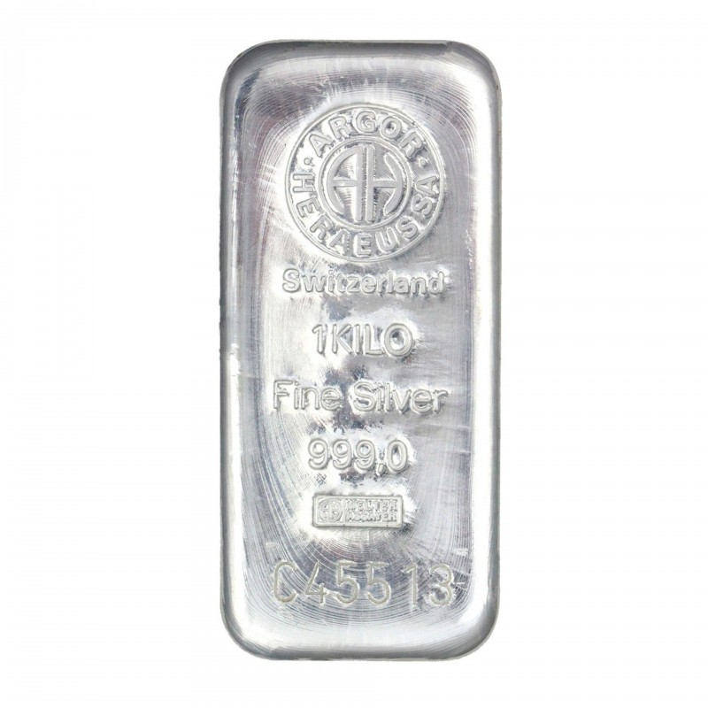 1 Kilo Argor-Heraeus Silver Bar