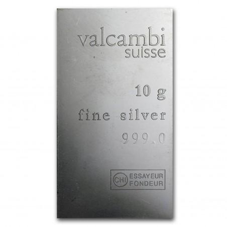 10 Grams Valcambi Silver Bar