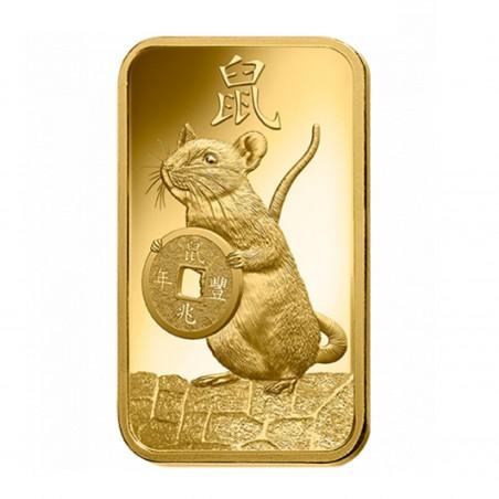 5 Grams PAMP Lunar Rat 2020 Gold Bar