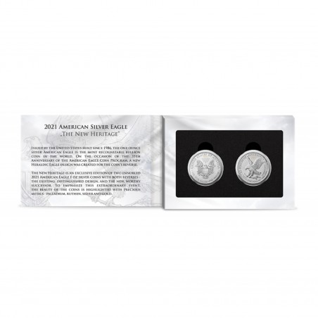 Set of 2 American Eagle The New Heritage Silver Coins