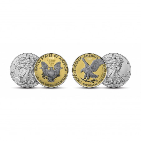 Set of 2 American Eagle Exclusive Silver Coins