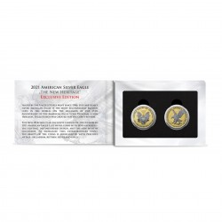 Set of 2 American Eagle Exclusive Edition Silver Coins