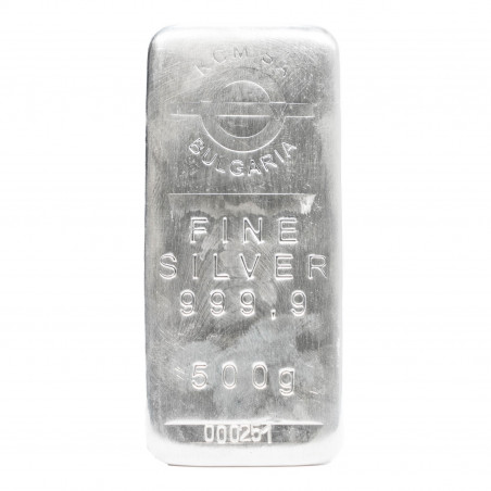500 Grams KCM Fine Silver Bar 999.9