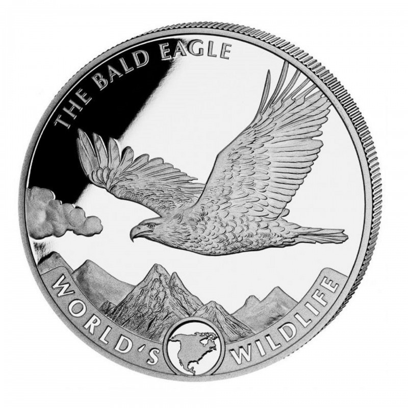 1 Oz Bald Eagle Congo 2021 Silver Coin