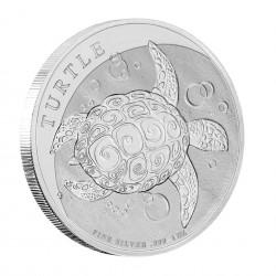 1 Oz Hawksbill Turtle 2021 Silver Coin