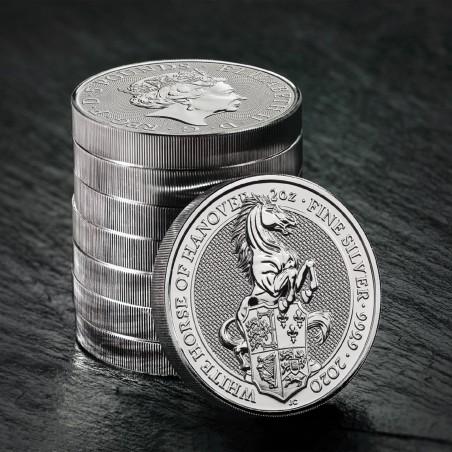 2 Oz White Horse 2020 Silver Coin