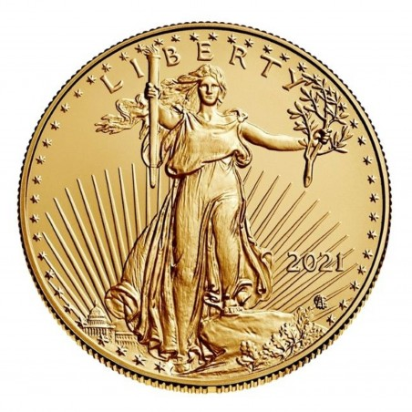 1 Oz American Eagle 2021 Type 2 Gold Coin