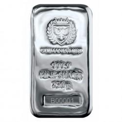 250 Grams Germania Mint Silver Bar
