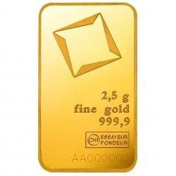 2.5 Grams Valcambi Gold Bar
