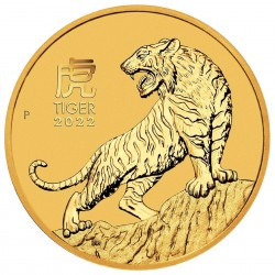 2 Oz Year Of The Tiger 2022 Gold Coin