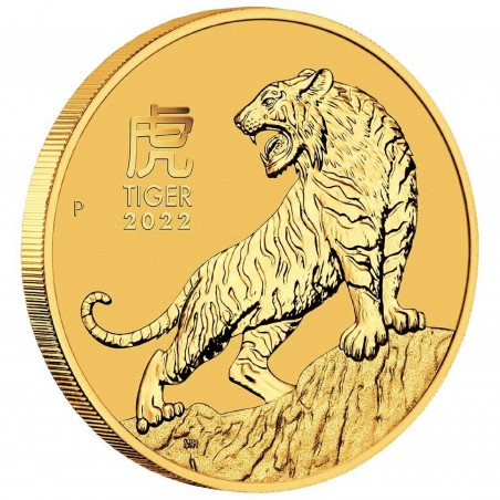 1/2 Oz Year Of The Tiger 2022 Gold Coin