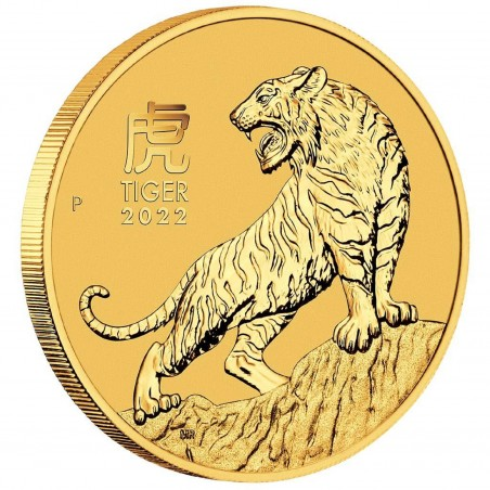 1/4 Oz Year Of The Tiger 2022 Gold Coin