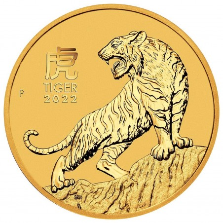 1/10 Oz Year Of The Tiger 2022 Gold Coin
