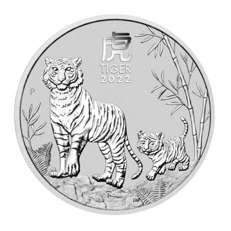 1/2 Oz Year Of The Tiger 2022 Silver Coin