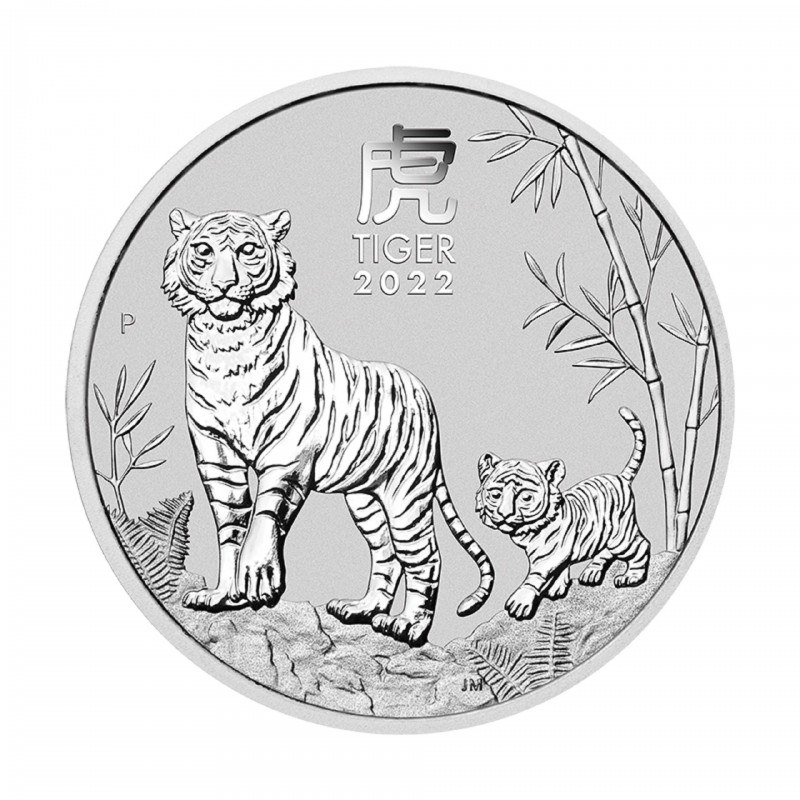 2 Oz Year Of The Tiger 2022 Silver Coin