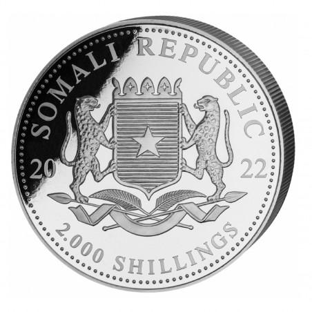 1 Kilo Somalian Elephant 2022 Silver Coin