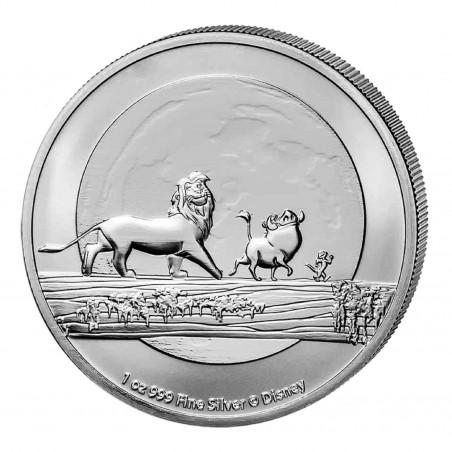 1 Oz Lion King Timon Pumbaa 2021 Silver Coin