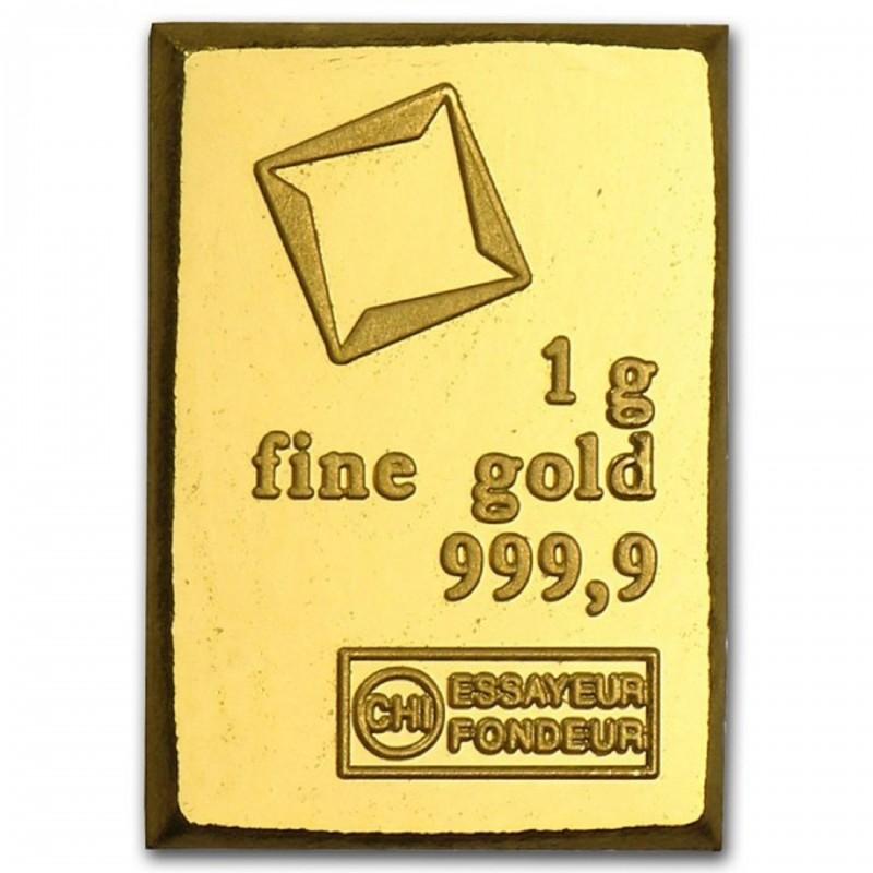 1 Gram Valcambi Gold Bar