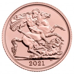 Half Sovereign 2021 Elizabeth II Gold Coin