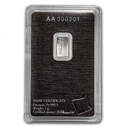 1 Gram Valcambi Platinum Bar
