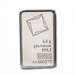 2.5 Grams Valcambi Platinum Bar