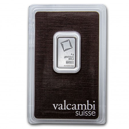 5 Grams Valcambi Platinum Bar