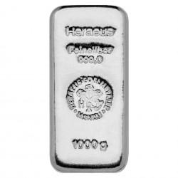 1000 Grams Heraeus Silver Bar