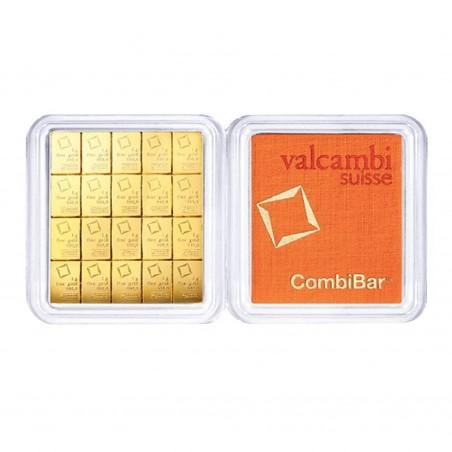 20 X 1 Gram Valcambi Gold CombiBar