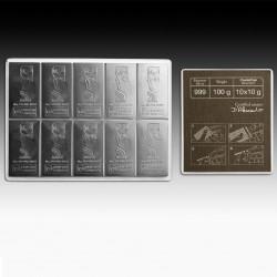 10 X 10 Grams Valcambi Silver CombiCoin