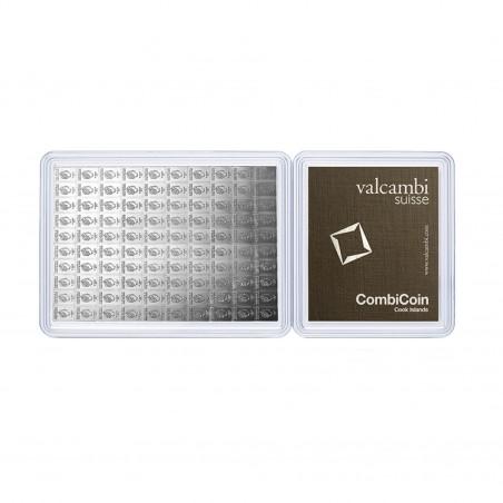 100 X 1 Gram Valcambi Silver CombiCoin
